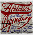 athletic t-shirt graphic vector image vector image