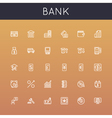 Bank Line Icons vector image vector image