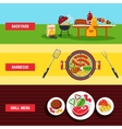 Barbecue Banner Set vector image vector image