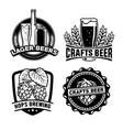 beer badge design set vector image vector image