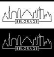 belgrade skyline linear style editable file vector image vector image