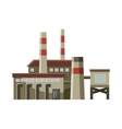 Big factory with pipes icon cartoon style vector image vector image
