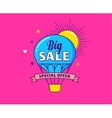 Big sale - colorful banner hot air balloon vector image vector image