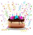 birthday cake realistic design concept vector image vector image