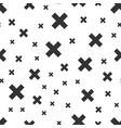 black cross seamless pattern background vector image
