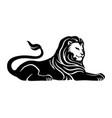 black lion sign vector image vector image