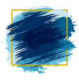 blue spots with frame vector image vector image