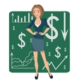 Brown-haired business woman vector image vector image