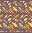 brush strokes seamless pattern abstract sketch vector image