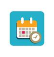 calendar flat icon vector image vector image