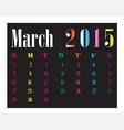 Calendar March 2015 vector image