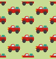 car with luggage seamless pattern vector image vector image
