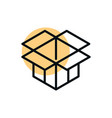 cardboard box delivery shopping line style dot vector image