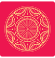Celtic ornament on red vector image vector image