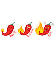 chilli for mexican or thai food vector image vector image