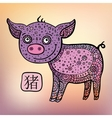 Chinese Zodiac Animal astrological sign Pig vector image vector image