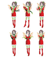 Christmas Elf Girl vector image