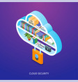 cloud security concept vector image