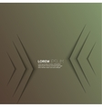 Dark green abstract background with volume lines vector image vector image