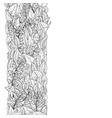 doodle floral vintage card vector image