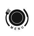 emblem for menu vector image vector image