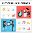 flat infographic elements square concept vector image