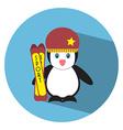 Flat Penguin vector image