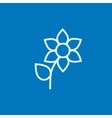 Flower line icon vector image