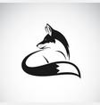 fox design on white background easy editable vector image vector image