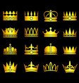 gold crown aristocracy symbols set vector image vector image
