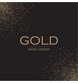 gold elegant glitter abstract background soft vector image vector image
