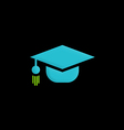 graduation hat education logo vector image vector image