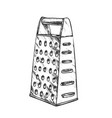 grater metallic kitchenware monochrome vector image vector image