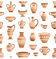 handmade antique greek pottery seamless pattern vector image vector image