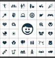 happiness icons universal set for web and ui vector image