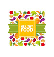 healthy food banner template square frame with vector image vector image