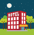 Hotel design vector image