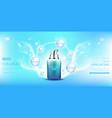 hyaluronic acid collagen cosmetics bottle mock up