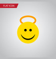 isolated cheerful flat icon angel element vector image vector image