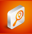 isometric search location icon isolated on orange vector image