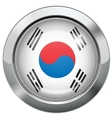 Korean flag metal button vector image vector image