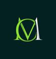letter cm luxury creative logo design vector image vector image