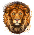 lion artistic color realistic portrait vector image