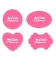 Little Princess Label Set vector image