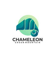 logo chameleon gradient colorful style vector image