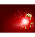 open gift with fireworks vector image vector image