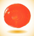 Orange watercolor paint circle vector image vector image