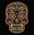 ornate two color day dead sugar skull vector image vector image