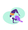 plus size yoga woman lady with curly hair home vector image