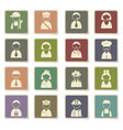 profession icon set vector image vector image